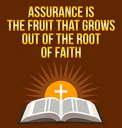 Christian motivational quote Assurance is the vector