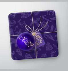 Christmas gift box realistic template vector