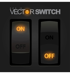 Cool Realistic Toggle Switch vector image