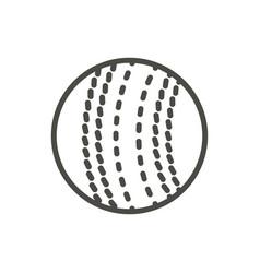 cricket ball icon line cricket symbol vector image