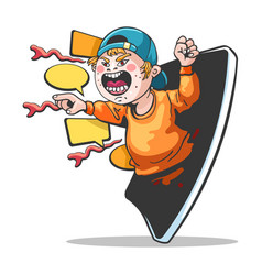 cyber hater cyberbullying character vector image