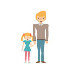 Dad and daughter happy image vector