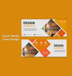 Designing social media banner template design vector