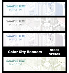 Different color of city vector image