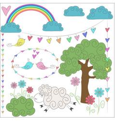 doodle set for children vector image
