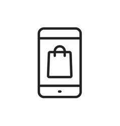 e-commerce and shopping web icons in line style vector image