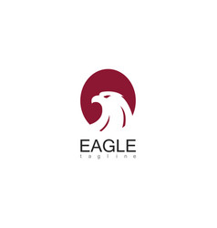 eagle circle logo vector image