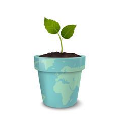 ecology concept earth day world environmen day vector image