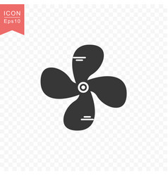 fan rotor icon simple flat style vector image