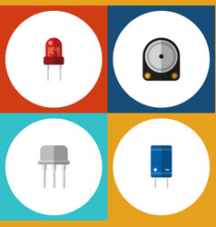 flat icon device set of recipient resist hdd and vector image