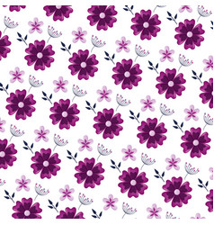 Flowers foliage leaves vector