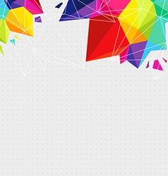 Geometric background with bright triangle elements vector image