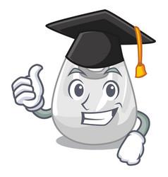 Graduation plastic bag character cartoon vector