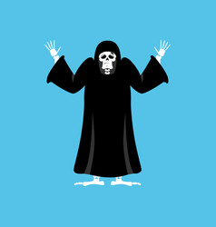 Grim reaper guilty death oops skeleton in black vector