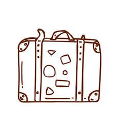 Hand Drawn Suitcase vector image