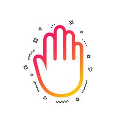 hand sign icon no entry or stop symbol vector image
