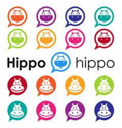 Hippo logo design vector