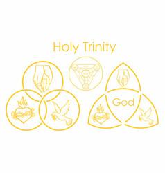 Holy trinity symbol vector