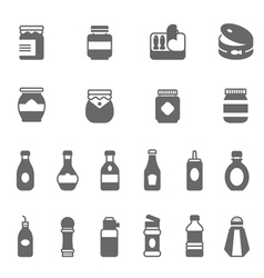 Icon set - ketchup vector image