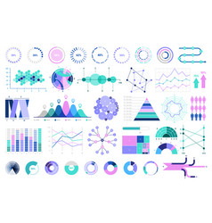 infographic and human resources elements vector image