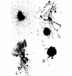 ink blots vector image