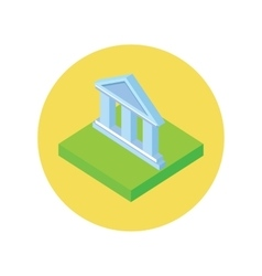 Isometric Bank Office Icon vector