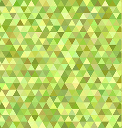 Lime triangle mosaic background design vector image