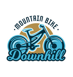 Logo mountain bike downhill subject extreme vector