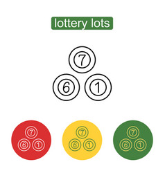 Lottery balls icon vector