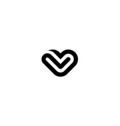 love or heart logo design concept vector image