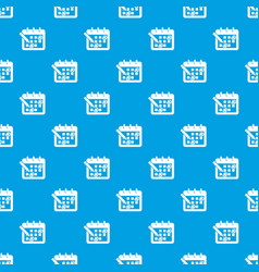 mark calendar pattern seamless blue vector image