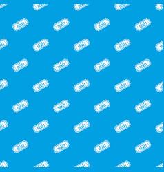 movie ticket pattern seamless blue vector image
