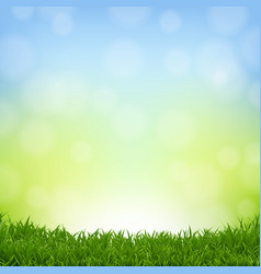 Nature background with grass border vector