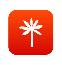 palm tree icon digital red vector image