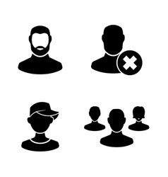 people avatar simple related icons vector image
