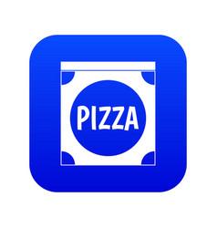 pizza box cover icon digital blue vector image