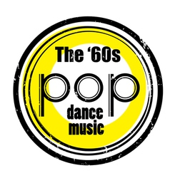 pop dance music vector image