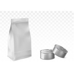 preserved pet baby food packaging set vector image