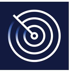 radar detection icon trendy flat detection vector image