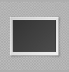 Realistic blank photo card vector