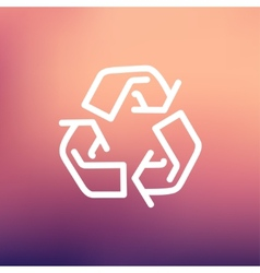 Recycle symbol thin line icon vector image