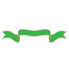 ribbon green sign 1412 vector image