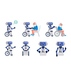 robot assistant isolated vector image