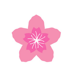 sakura icon design template isolated vector image