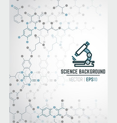 scientific chemical background vector image