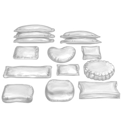 set of pillow vector image