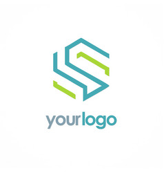 Shape line letter s business logo vector
