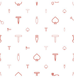 Spade icons pattern seamless white background vector