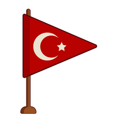 Table flag of turkey icon cartoon style vector