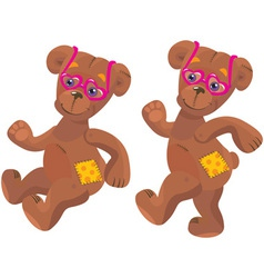 teddy bear with sunglasses vector image
